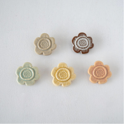 BIRDS'WORDS(バーズワーズ) FLOWER TILE BROOCH フラワータイルブローチ [A]